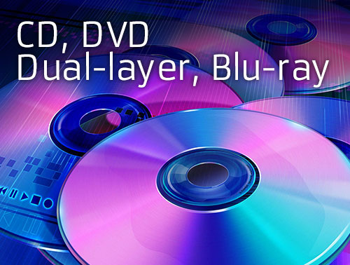 CD, DVD, BD